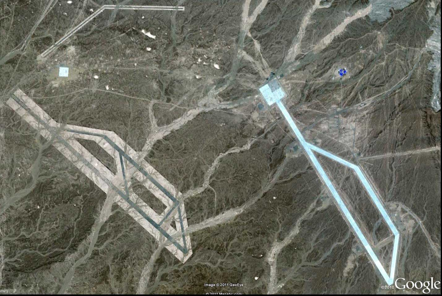 Mysterious Nazca Like Site Near Dunhuang In China World