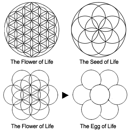 The flower of life can be found in all major religions of the world it contains the patterns of creation as they emerged from the great void