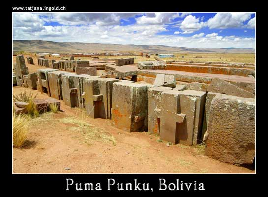 Construction blocks at Puma Punku