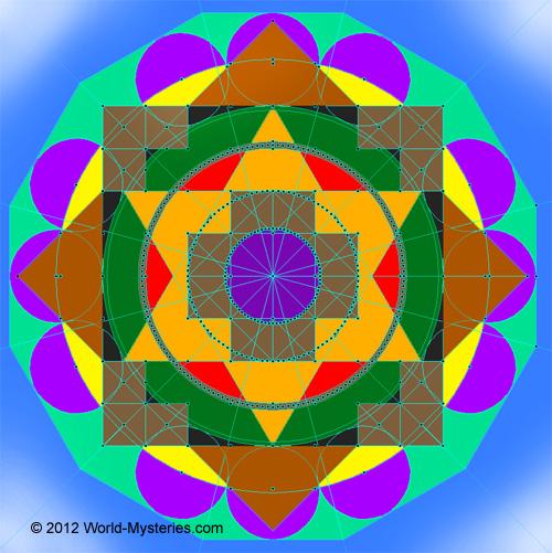 "Resultado de imagen para Mitchell's ""New Jerusalem"" sacred geometry diagram"