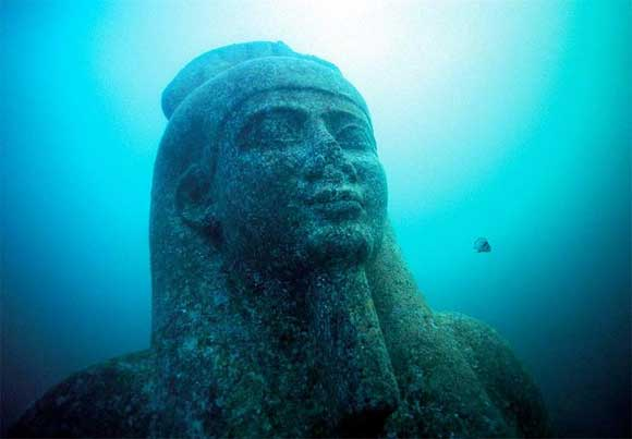Ancient Cities and Megalithic Sites Underwater  Heracleion2
