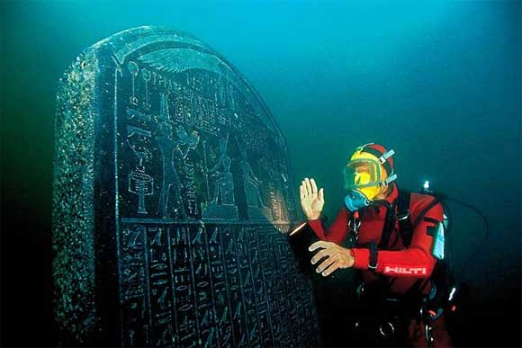 Ancient Cities and Megalithic Sites Underwater  Heracleion3