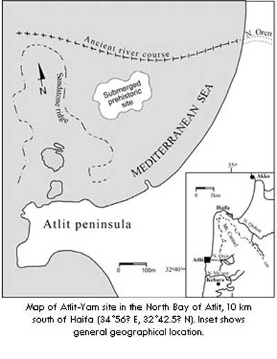 Ancient Cities and Megalithic Sites Underwater  Atlit_map