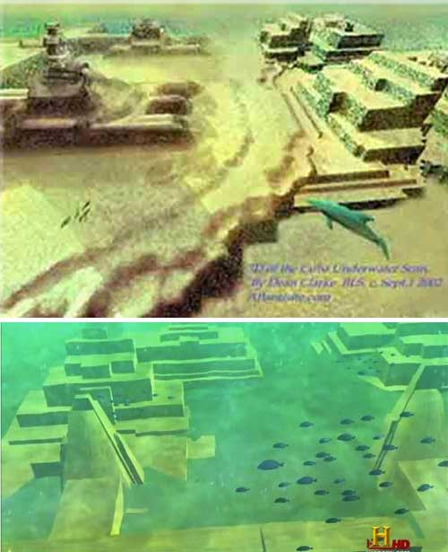 Ancient Cities and Megalithic Sites Underwater  YucatanChannel_Ruins