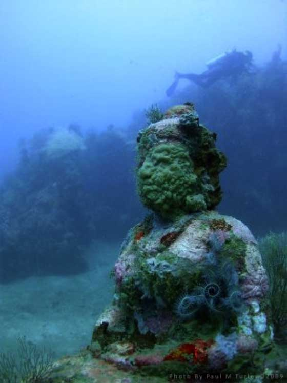 Ancient Cities and Megalithic Sites Underwater  Shore-temple