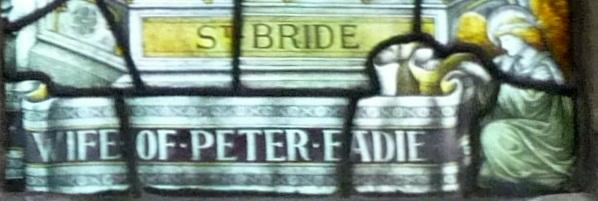 St Bride's coded inscription