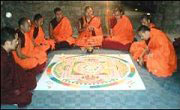 Sand-mandala-making-monks