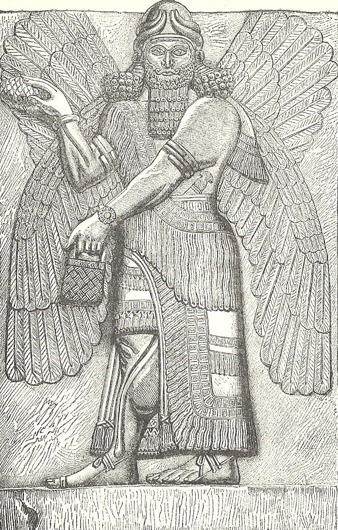 winged god