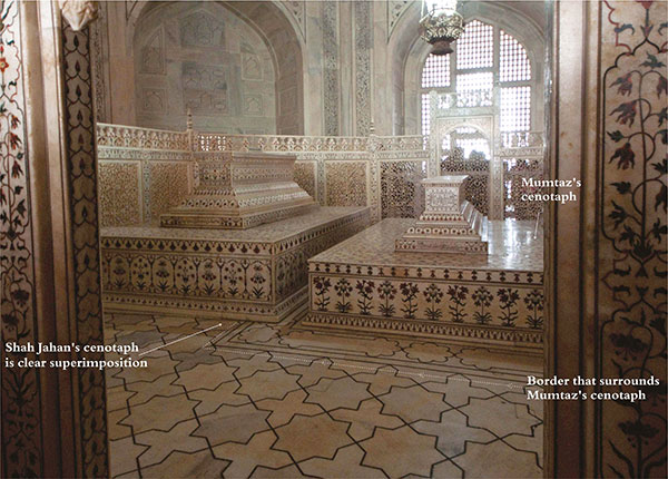 BLACK TAJ MAHAL: The Emperor's Missing Tomb Asymmetry-of-funerary-chamber