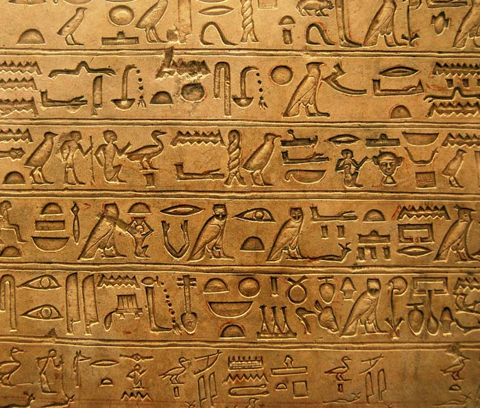 How Can Hieroglyphics Know What The Symbols Or Letters Mean On The