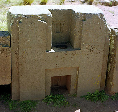 stone blocks at Puma Punku - made with concrete moulds