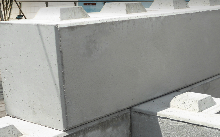 Modern Blocks made of poured concrete